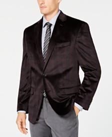 Lauren Ralph Lauren Men's Classic/Regular Fit UltraFlex Velvet Plaid Sport Coat