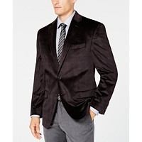 Deals on Lauren Ralph Lauren Mens UltraFlex Velvet Plaid Sport Coat