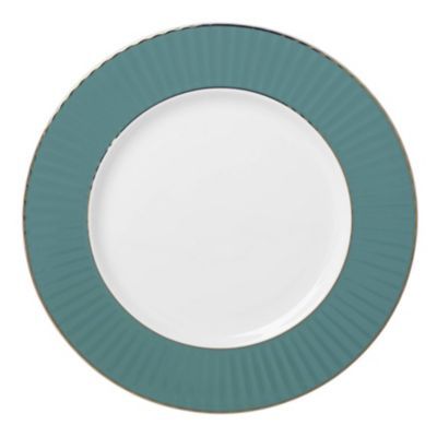 Pleated Colors Teal  Dinner Plate