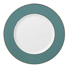 Lenox Pleated Colors Teal  Dinner Plate