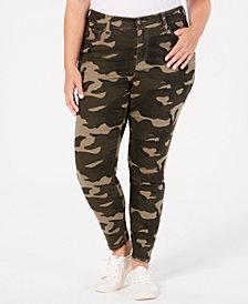 Celebrity Pink Plus Size Camo-Print Skinny Jeans