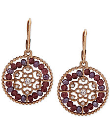 lonna & lilly Gold-Tone Beaded Filigree Drop Earrings