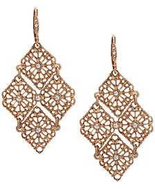 lonna & lilly Gold-Tone Crystal Openwork Chandelier Earrings