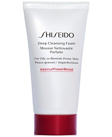 Free deluxe Deep Cleansing Foam with $85 Shiseido purchase