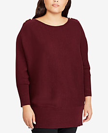 Lauren Ralph Lauren Plus Size Relaxed-Fit Sweater