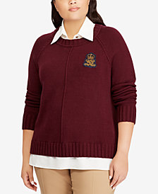 Lauren Ralph Lauren Plus Size Layered-Look Sweater