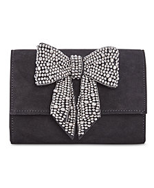 I.N.C. Maraa Rhinestone Bow Clutch, Created for Macy's