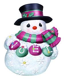 Precious Moments LED Snowman Wall Plaque