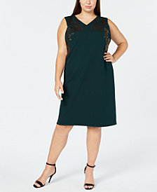 Calvin Klein Plus Size Embroidered Sleeveless Dress