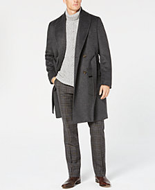 Tasso Elba Men's Shawl-Collar Belted Coat, Created for Macy's