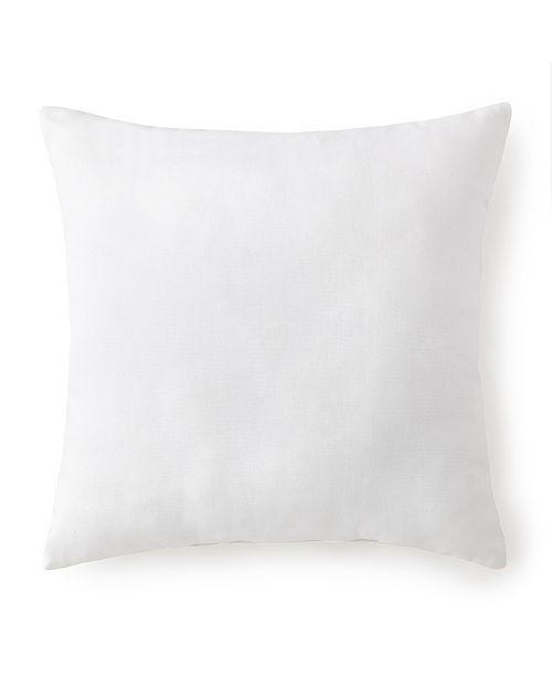 "Colcha Linens Seascape Square Cushion 18""x18"" - Solid White"