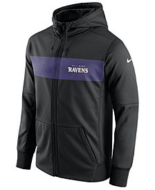 Nike Men's Baltimore Ravens Seismic Therma Full-Zip Hoodie