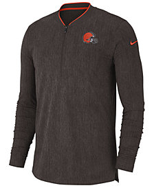 Nike Men's Cleveland Browns Coaches Quarter-Zip Pullover