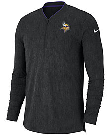 Nike Men's Minnesota Vikings Coaches Quarter-Zip Pullover