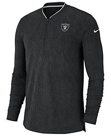 Nike Men's Oakland Raiders Coaches Quarter-Zip Pullover