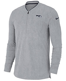Nike Men's Seattle Seahawks Coaches Quarter-Zip Pullover