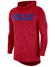 Nike Men's Buffalo Bills Dri-Fit Cotton Slub On-Field Hooded T-Shirt