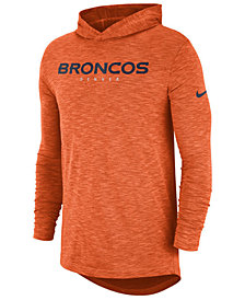 Nike Men's Denver Broncos Dri-Fit Cotton Slub On-Field Hooded T-Shirt