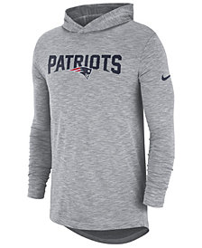 Nike Men's New England Patriots Dri-Fit Cotton Slub On-Field Hooded T-Shirt