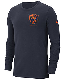 Nike Men's Chicago Bears Heavyweight Seal Long Sleeve T-Shirt