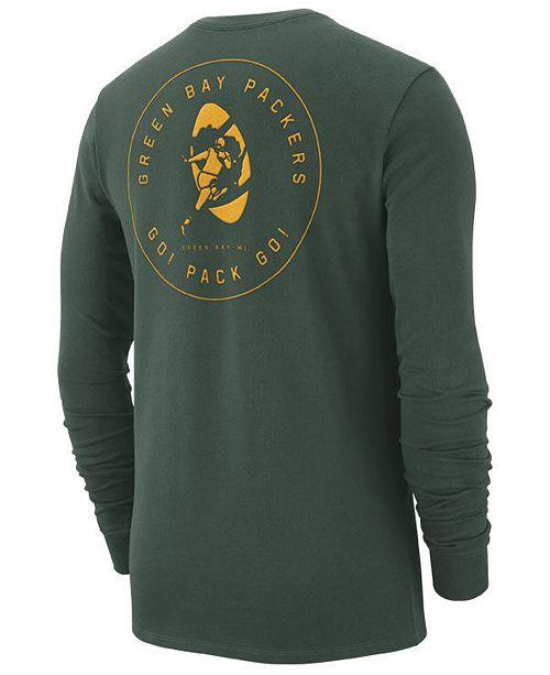 Nike Men s Green Bay Packers Heavyweight Seal Long Sleeve T-Shirt ... e3ceb2994