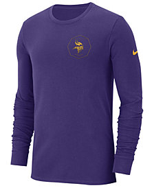 Nike Men's Minnesota Vikings Heavyweight Seal Long Sleeve T-Shirt