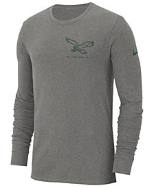 Nike Men's Philadelphia Eagles Heavyweight Seal Long Sleeve T-Shirt