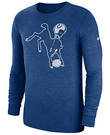 Nike Men's Indianapolis Colts Historic Crackle Long Sleeve Tri-Blend T-Shirt