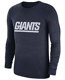 Nike Men's New York Giants Historic Crackle Long Sleeve Tri-Blend T-Shirt