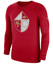 Nike Men's San Francisco 49ers Historic Crackle Long Sleeve Tri-Blend T-Shirt