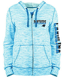 5th & Ocean Women's Carolina Panthers Space Dye Full-Zip Hoodie