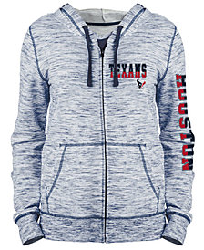 5th & Ocean Women's Houston Texans Space Dye Full-Zip Hoodie