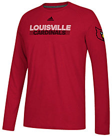 adidas Men's Louisville Cardinals Sideline Lined Up Long Sleeve T-Shirt