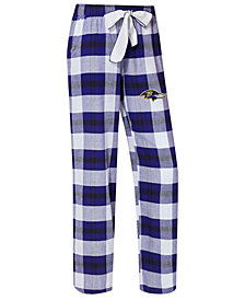 Concepts Sport Women's Baltimore Ravens Headway Flannel Pajama Pants