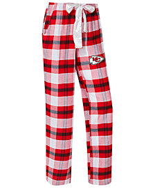 Concepts Sport Women's Kansas City Chiefs Headway Flannel Pajama Pants