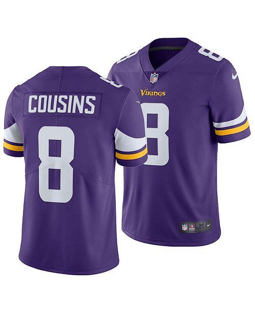 online store b8300 549c3 Men's Kirk Cousins Minnesota Vikings Vapor Untouchable Limited Jersey