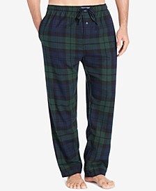 Men's Big & Tall Plaid Cotton Flannel Pajama Pants