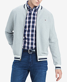 Tommy Hilfiger Men's Big & Tall Regular-Fit Full-Zip Baseball Sweater