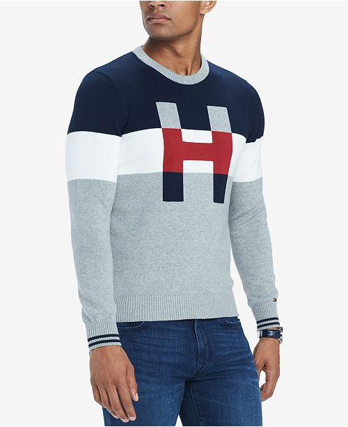 07390843 Tommy Hilfiger Men's H Colorblocked Sweater & Reviews - Sweaters ...