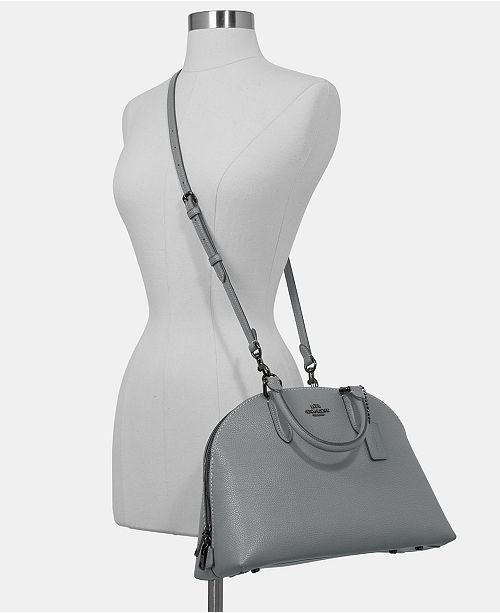 2f1398005 COACH Quinn Satchel in Polished Pebble Leather & Reviews - Handbags ...