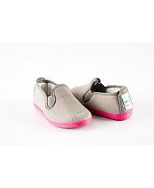 Namoo Grey and Pink Canvas Slip On Shoe