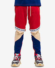 Hudson NYC Men's Logo Tape Colorblock Track Pants