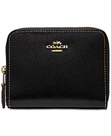 COACH Patent Leather Zip-Around Wallet