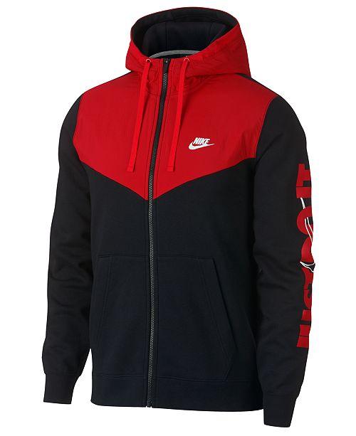 40b5e36a3120 Nike Men s Sportswear Just Do It Fleece Zip Hoodie   Reviews ...