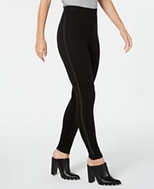 I.N.C. Shaping Embellished Tuxedo-Stripe Leggings, Created for Macy's