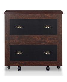 Hollis Rustic File Cabinet