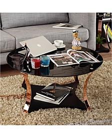 Contessa Round Glass Top Coffee Table