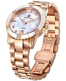 Womens Influence Diamond Accented Swiss Quartz Bracelet Watch