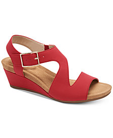 Giani Bernini Belinaa Memory Foam Wedge Sandals, Created for Macy's