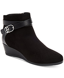 Giani Bernini Cherub Wedge Memory Foam Ankle Booties, Created for Macy's